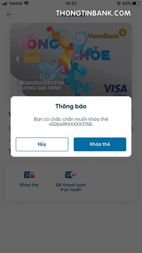 cach khoa the atm vietinbank