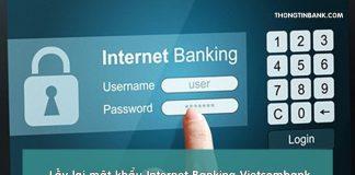lay lai mat khau internet banking vietcombank