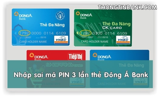 nhap sai ma pin 3 lan the dong a