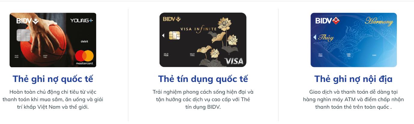 lam the tin dung bidv online