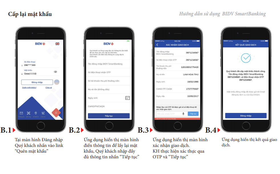 cach mo khoa tai khoan bidv smart banking bi khoa