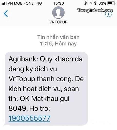 VnTopup Agribank la gi