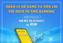 dang ky sms banking nam a