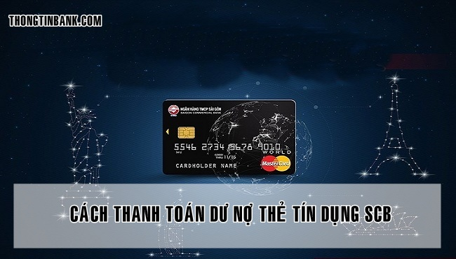 Thanh toan du no the tin dung scb