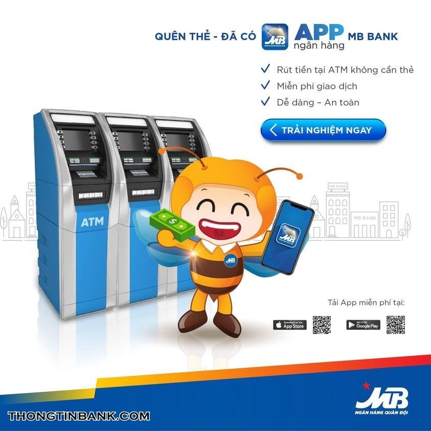 Rut tien khong can the mb bank