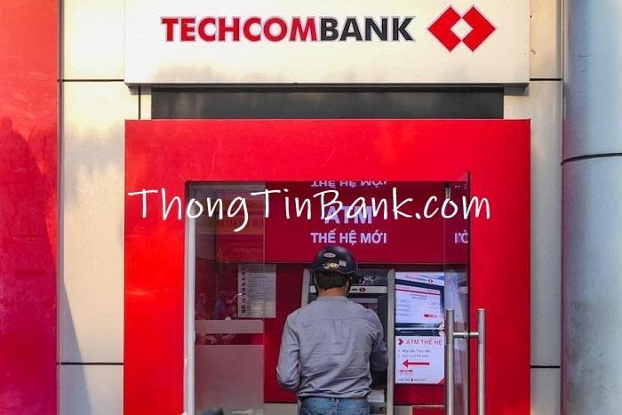 Chuyển tiền qua cây ATM Techcombank