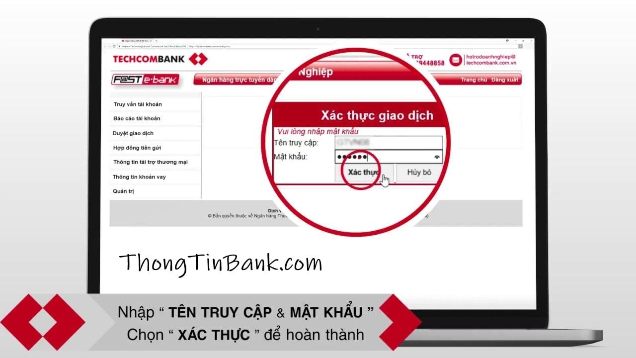 Cách chuyển tiền ngân hàng Techcombank