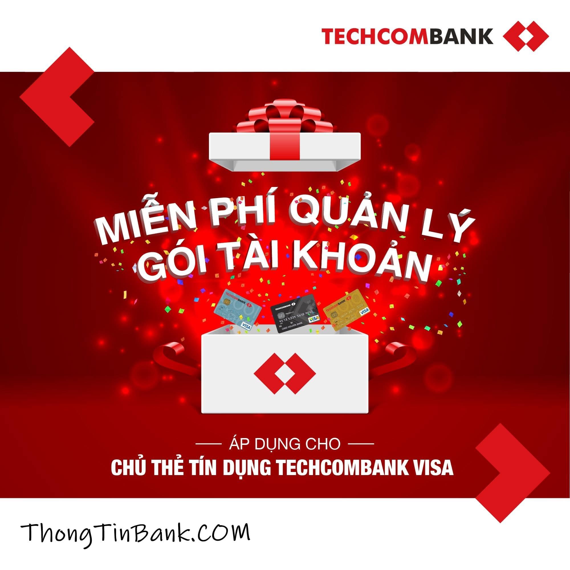 Phí quản lý tài khoản Techcombank