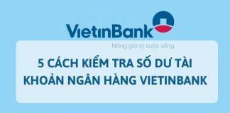 Tra cứu số dư tài khoản vietinbank