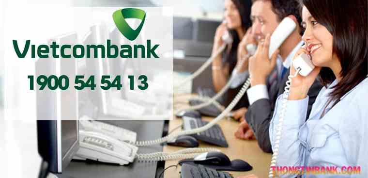 Khóa thẻ vietcombank qua tổng đài