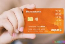 Xem ngày hết hạn trên thẻ ATM Sacombank