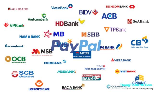 Paypal liên kết với ngân hàng nào